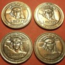 Lot of 4 Medallions Made Of Statue Of Liberty Materials~Scarce~Free Shipping