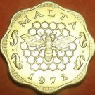 Malta 1972 3 Mils Gem Unc~1st Year Ever~Bee And Honeycomb~Free Shipping