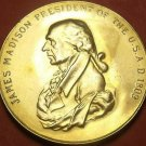 Gem Unc James Madison Presidential Bronze Inauguration Medallion~Free Shipping