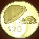 Rare Silver Proof Fiji 1978 $20.00~Golden Cowrie~3,869 Minted~Free Shipping