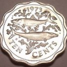 Bahamas 1973 10 Cents~Bone Fish~Rare Proof~Only 35,000 Minted~Free Shipping