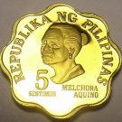 Philippines 1978 5 Sentimos Proof~4,872 Minted~Scalloped~Melchora Aquino~Fr/Ship