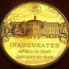 Gem Unc Harry S. Truman Presidential Bronze Inauguration Medallion~Free Sh