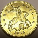 Russia 2015-M 10 Kopeks Gem Unc~St.George On Horseback Slaying Dragon~Free Ship