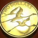 Bahamas 1985 2 Dollars Proof~Rare Only 7,500 Minted~Flamingo's In Flight~Fr/Ship