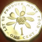 Extremely Rare Proof Jamaica 1993 F.A.O. Cent~500 Minted~12 Sided~Ackee Fruit~FS
