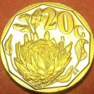 Rare Proof South Africa 1992 20 Cents~Only 10,000 Minted~Protea Flower~Free Ship