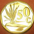 Rare Proof South Africa 1992 50 Cents~Only 10,000 Minted~Free Shipping