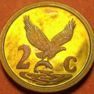 Rare South Africa 1992 Proof 2 Cents~10k Minted~Eagle With Fish~Rainbow Toned~FS
