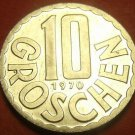Proof Austria 1970 10 Groschen~Only 102,000 Minted~Imperial Eagle~Free Shipping