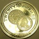 Silver Proof British Virgin Islands 1985 $20.00~Gold Escudo of 1733~Free Ship