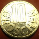Proof Austria 1971 10 Groschen~Only 82,000 Minted~Imperial Eagle~Free Shipping
