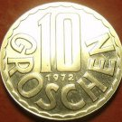 Proof Austria 1972 10 Groschen~Only 81,000 Minted~Imperial Eagle~Free Shipping
