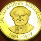 Extremely Rare Proof Jamaica 1993 Dollar~500 Minted~Alexander Bustamante~Free Sh