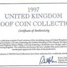 1997 Great Britain 10 Coin 1 Piece C.O.A. And Document Set~No Coins~Free Ship
