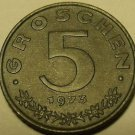 Austria 1973 5 Groschen Proof~Austrian Shield On Breast~Zinc~149,000 Minted~F/S