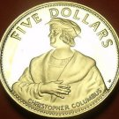 Rare Silver Proof Bahamas 1985 $5.00~Christopher Columbus~7,500 Minted~Free Ship