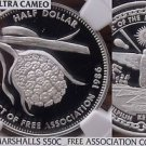 Marshall Islands 1986 50 Cents Silver~NGC PR-69 UC~Highest~Pandanus~Association