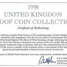 1998 Great Britain 10 Coin 1 Piece C.O.A. And Document Set~No Coins~Free Ship