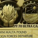 Malta 1979-FM Silver Pound~NGC Certified Perfect PF-70 Ultra Cameo~Highest~Rare