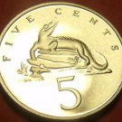 Extremely Rare Proof Jamaica 1993 5 Cents~American Crocodile~500 Minted~Free Shi