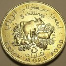 Somalia 1970 F.A.O. 5 Shillings Unc~Only 100,000 Minted~Cow And Goats~Free Ship