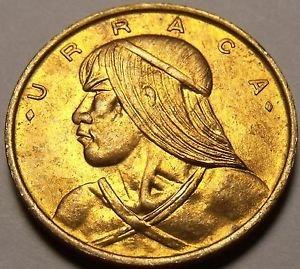 Panama 1962 Centesimo Unc~Rare Key Date~ Urrraca~Lowest Mintage~Free Shipping
