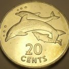 Kiribati 1979 20 Cents Unc~Rare 20,000 Minted~Dolphins~Free Shipping