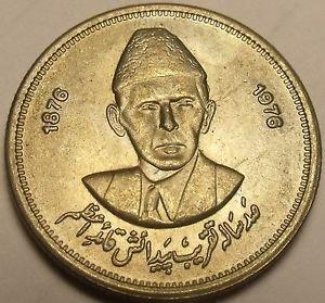 Pakistan 1976 50 Paisa Unc~100th Anniversary Of Birth Of Mohammad Ali Jinnah~F/S