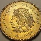 Gem Unc Mexico 1959 50 Centavos~Cuauhtemoc~Fantastic~Last Year~Free Shipping