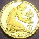 Germany 1976-J 50 Pfennig Proof~43,000 Minted~Woman Planting Oak Seedling~Fr/Shi