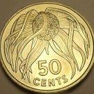 Kiribati 1979 50 Cents Unc~Rare 20,000 Minted~Panda Nut~Free Shipping