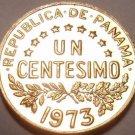 Rare Proof Panama 1973 1 Centesimo~URRACA~Only 17,000 Minted~Free Shipping