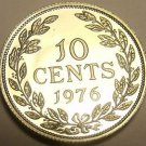 Proof Liberia 1976 10 Cents Proof~Rare Only 2,131 Minted~Free Shipping