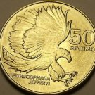 Philippines 1986 50 Sentimos~The Monkey-Eating Eagle Pithecophaga Jefferyi~Fr/S