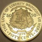 Proof Liberia 1976 50 Cents Proof~Rare Only 2,131 Minted~Free Shipping