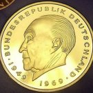Germany 1976-J 2 Mark Proof~43,000 Minted~Konrad Adenauer~Free Shipping