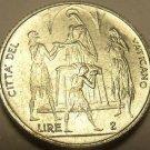 Rare Gem Unc Vatican 1968 F.A.O 2 Lire~The Feeding Of The 5,000~100,000 Minted