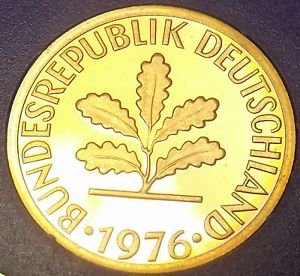 Germany 1976-J 2 Pfennig Proof~Only 43,000 Minted~Minted In Hamburg~Free Ship