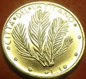 Rare Gem Unc Vatican 1970 F.A.O. Lira~Palm Sprigs~100,000 Minted~Free Shipping