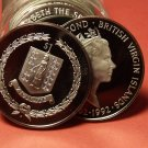 Rare Proof Roll (20) British Virgin Islands 1992 Dollars~Columbus 100th Anniv~FS