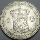 Netherlands 1923 Gulden Silver~Free Shipping