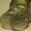 Circulated Roll (50 Coins) Japan Yen Coins~Mixed Dates~Sprouting Branch~Fr/Ship