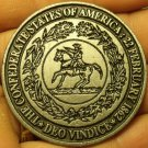 Huge 49.5mm Confederate States Of America Medallion~Deo Vindice~Free Shipping