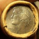 Gem Unc Original Roll (20) Portugal 1977 25 Escudos Coins~Laureate~1st Year~Fr/S