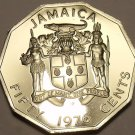 Jamaica 1976 50 Cents Rare Proof~10 Sided Coin~24,000 Minted~Free Shipping