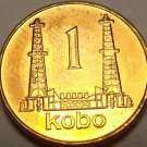 Nigeria 1991 Kobo~Gem Unc~Oil Derricks~Last Year Ever Minted~Free Shipping