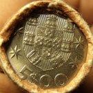 Gem Unc Original Roll (40) Portugal 1982 5 Escudos Coins~Ship~Free Shipping