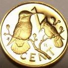 Rare Cameo Proof British Virgin Islands 1980 Cent~Hummingbird~3,421 Minted~Fr/Sh