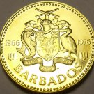 Barbados 1976 5 Cents Rare Proof~10th Anniversary~South Pointe Lighthouse~Fr/Sh